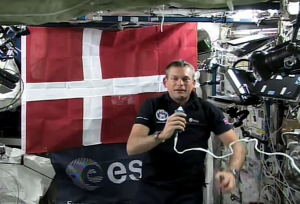 Andreas Mogensen during live call with Denmark.